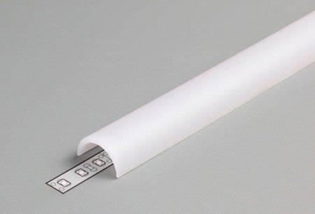 Klosz D klik mleczny do profilu LED ARC12, UNI12, QUARTER10, WALLE12 2 metry