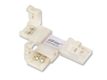 Łącznik kątowy CONNECTOR CLICK do taśm LED line® 8mm 2 pin typ T