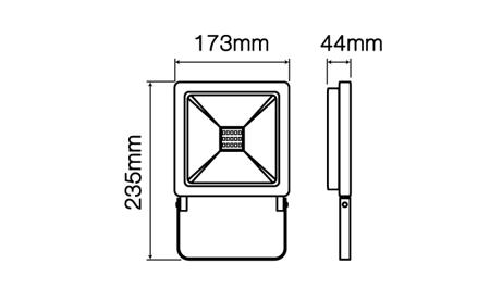 Naświetlacz Halogen LED line PHOTON 50W RGB IP65 sterowany aplikacją TUYA