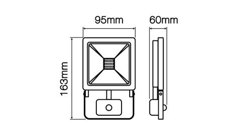 Naświetlacz LED line® PHOTON 10W 800lm 4000K z czujnikiem ruchu PIR
