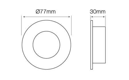 Oprawa halogenowa sufitowa MR16 okrągła stała odlew grafit