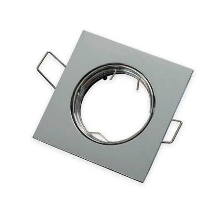 Oprawa halogenowa sufitowa kwadratowa ruchoma, odlew stopu aluminium - chrom