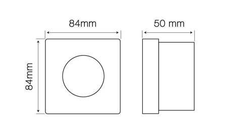 Oprawa halogenowa sufitowa wodoodporna, kwadratowa, stała, odlew, aluminium - biały matowy