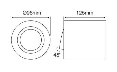 Oprawa natynkowa punktowa okrągła ruchoma biały mat - ROLLO