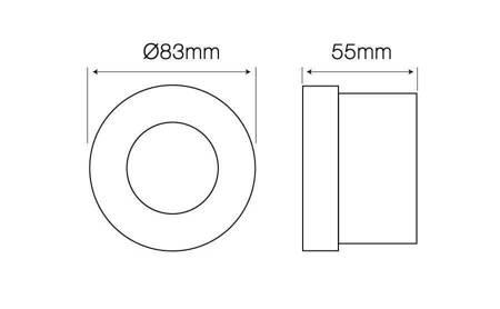 Oprawa sufitowa wodoodporna, okrągła, stała, odlew, aluminium - biały matowy