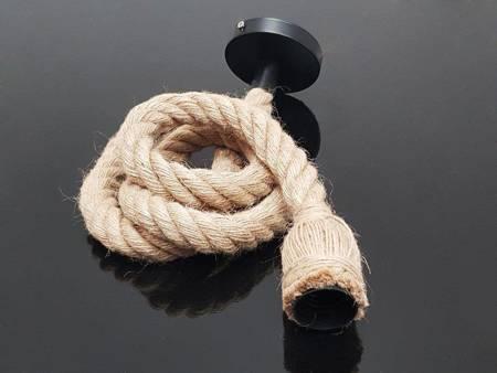 Oprawa sznur jutowy konopny 1,5m 1xE27