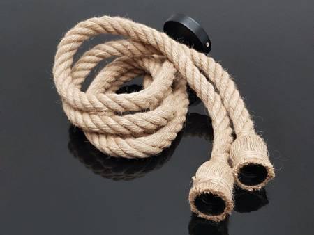 Oprawa sznur jutowy konopny 1,5m 2xE27