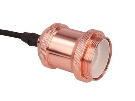 Oprawa zwieszana 1xE27 aluminium - różowe złoto