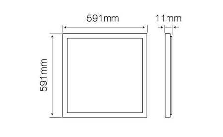 Panel LED line ramkowy 40W 3200lm 4000K biała dzienna 591mm x 591mm