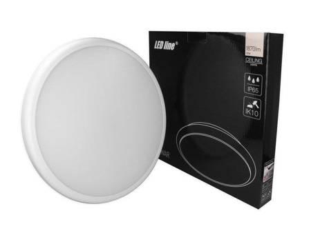 Plafon LED line® LUNAR okrągły 220-240V 22W 1870lm 4000K biała dzienna IP65