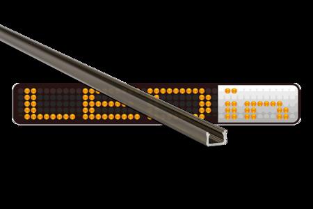 Profil nawierzchniowy SLIM INOX anodowany typ X 2 metry