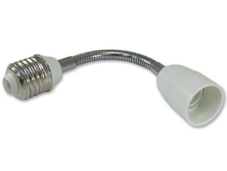 Przedłużka (adapter) E27 > E14 z elastycznym złączem