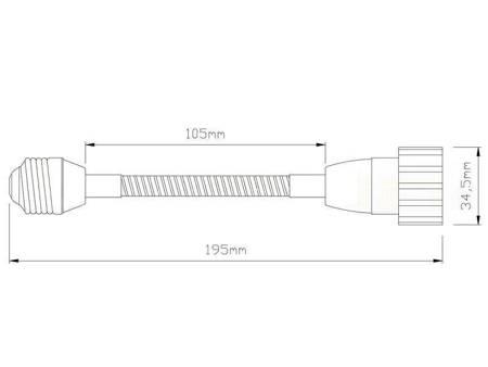 Przedłużka (adapter) E27 > GU10 z elastycznym złączem