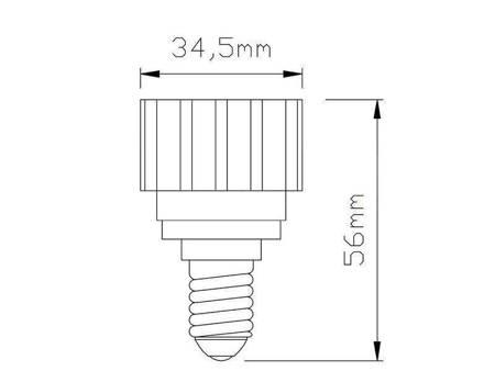 Przejściówka żarówki (adapter) E14 > GU10