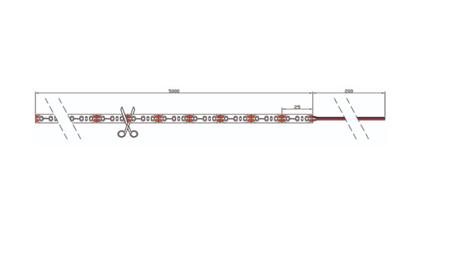 Taśma LED line 600 SMD2216 12V biała neutralna 6200-6700K 5 metrów