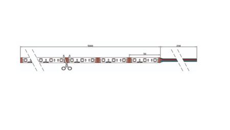 Taśma LED line SAMSUNG 300 SMD5630 24V biała ciepła 2700-2868K 5 metrów