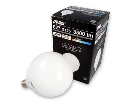 Żarówka LED line E27 170-250V 35W 3500LM 2700K G125 biała ciepła