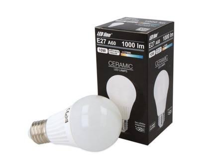 Żarówka LED line E27 230V 10W 1000lm biała ciepła 2700K A60