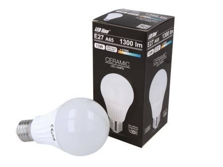 Żarówka LED line E27 230V 13W 1300lm 2700K A65 biała ciepła