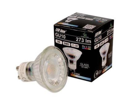 Żarówka LED line GU10 SMD 220-260V 3W 273lm 36˚ biała ciepła 2700K