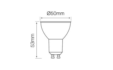 Żarówka LED line GU10 SMD 220-260V 5W 410lm 50° biała dzienna 4000K