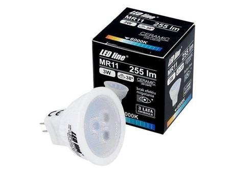 Żarówka  LED line MR11 SMD 10-14V AC/DC 3W 255lm 38° biała zimna 6000K