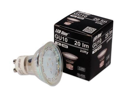 Żarówka LED line SMD GU10 1W 220-260V  żółta