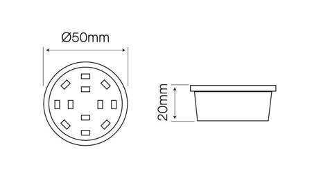 Żarówka LED line płaska meblowa 50mm 230V 5W 400lm biała dzienna 4000K