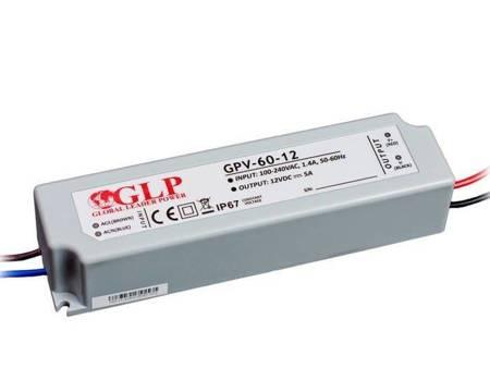 Zasilacz LED GPV-60-12 5A 60W 12V, IP67